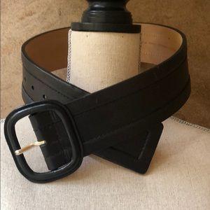 MICHAEL Michael Kors Wide Black Leather Belt